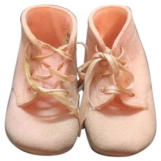 Vintage Pink Baby Deer Shoes 1950s Original box Good Condition