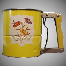 Vintage Androck Triple Screen Flour Sifter 1950-60s Good Useable Condition