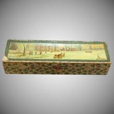Vintage Ladies Christmas Glove Box Late 1800s Vintage Condition
