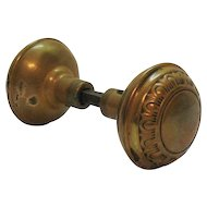 Vintage Victorian Brass Door Knobs Late 1800s