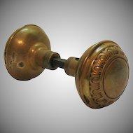 Vintage Victorian Brass Door Knobs Late 1800s