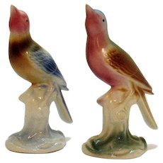 Two Vintage Royal Copley birds by Spaulding China Co. 1939-60 Good Condition
