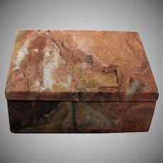 Vintage Onyx Cigarette Box 1920-40s Good Condition