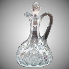 Vintage EAPG Cruet with Glass Stopper