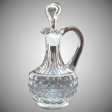 Vintage Thousand Eye Cruet by Adams & Co. ca. 1870s Good Condition