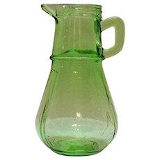 Vintage Hazel Atlas Green Depression glass Syrup Bottle 1929 Good Vintage Condition