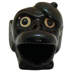 Vintage Novelty Monkey Ashtray 1950s