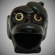 Vintage Novelty Monkey Ashtray 1950s
