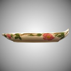 Vintage Franciscan Relish Dish Desert Rose Pattern 1958-63 Good Condition