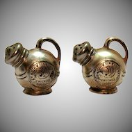 Vintage 1934 Metal Chicago World's Fair S&P Shakers Good Condition
