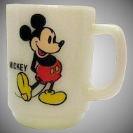 Vintage Anchor Hocking Mickey Mouse Mug 1970s Good Condition