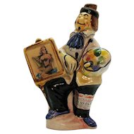 Vintage Drioli Ceramic Figurine Decanter Flicker/Lenticular Picture 1950s Good Vintage Condition