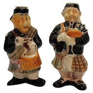 Two Vintage ceramic Drioli Decanter Figurines 1969