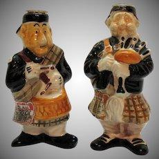 Two Vintage ceramic Drioli Decanter Figurines 1969