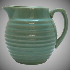 Vintage Bauer 2 Quart Turquoise Ring Pottery Pitcher 1940s Good Condition