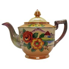 Vintage 1930s Teapot by Takito Japan Co. Lusterware Good Condition