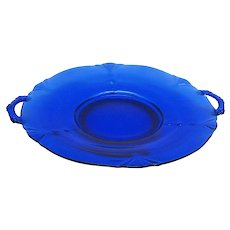 Vintage Paden City Cobalt Blue Serving Tray 1930s