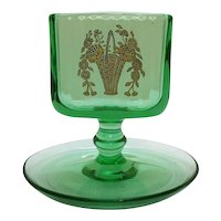 Vintage Green Depression Uranium Glass Cigarette Holder 1930s Good Condition