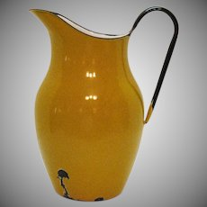 Vintage Polish Enamelware Pitcher 1950s No Leaks