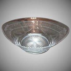 Vintage Heisey Floral Bowl 1920s Cut Design