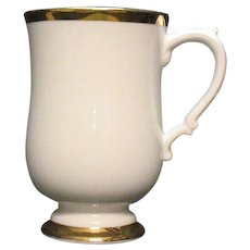 Vintage Royal Victoria 12 Fine Bone China Pedestal Mugs Gold Trim 1950-60s Good Condition Like New