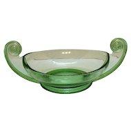 Vintage Rare Fostoria Green Depression Glass Centerpiece Bowl Designed by George Sakier 1920-30s Very Good Condition