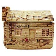 Vintage McCoy Cookie Cabin Cookie Jar 1957-60 Good Vintage Condition