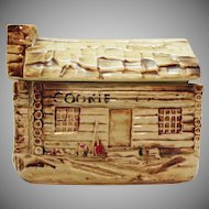 Vintage McCoy Cookie Cabin Cookie Jar 1957-60 Good Vintage Condition