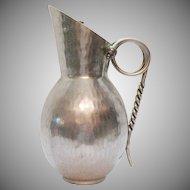 Vintage Hammered Aluminum Pitcher by B.W. Buenilum 1930-50s Good Vintage Condition