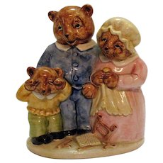 Vintage Three Bears Ceramic Bank 1982 Good Condition