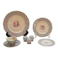 Vintage Flint Ridge China Vista Grey Dishes Pattern 10 Place Settings 1964-71 Like New Condition