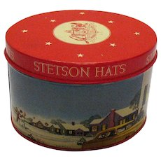 Vintage 1950s Stetson Hat Tin Salesman Sample Very Good Condition