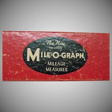 Vintage Mile-O-Graph Mileage Measurer 1950s Good Working Condition