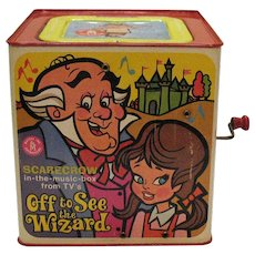 Vintage Wizard of OZ Jack-In-Box Scarecrow 1967 Good Vintage Condition