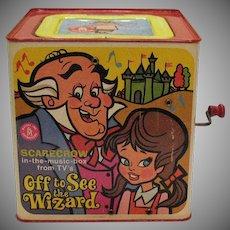 Vintage Wizard of OZ Jack-In-Box Scarecrow 1967 Good Vintage Condition