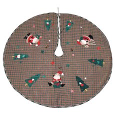 Vintage Polyester Christmas Tree/Center Piece Skirt 1970s Good Condition