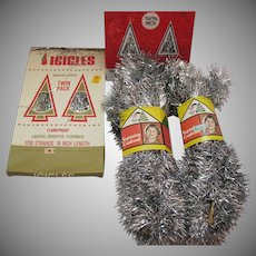Vintage 1970s Christmas Tree Decoration Garland & Icicles Good Condition