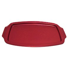 Vintage Regal Ware Red Anodized Aluminum Tray 1950-60s Never Used