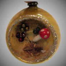 Vintage Mid-Century Japan Diorama Indented Christmas Tree Ornament