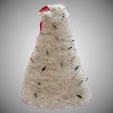 Vintage Folk Art Cellophane Christmas Tree 1960-70s Good Condition
