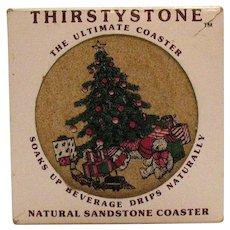 Vintage 4 Coasters Natural Sandstone Coaster 1988 Good Condition