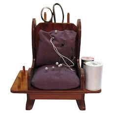 Vintage Sewing Caddy Looks like Rocking Chair 1920-60s Good Condition
