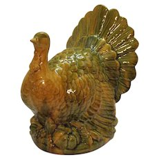 Vintage Ceramic Turkey Center Piece for Thanksgiving Holiday Good Condition
