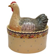 Vintage Chicken Cover Casserole/Cookie Jar American Atelier Good Condition