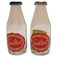 Vintage Sealtest Advertising S&P Shakers 1950-60s Good Condition