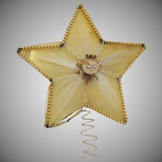 Vintage Folk Art Star Christmas Tree Topper 1940s Good Vintage Condition