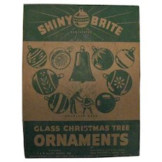 Vintage Shiny Brite Glass Christmas Tree Ornaments 1950s Vintage Condition