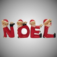Vintage Santa Candle Holders Spell Out Noel  1950s