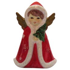 Vintage Ceramic Christmas  Girl Angel Figurine 1950s