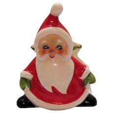 Vintage Ceramic Lefton Santa Napkin Holder 1960-83